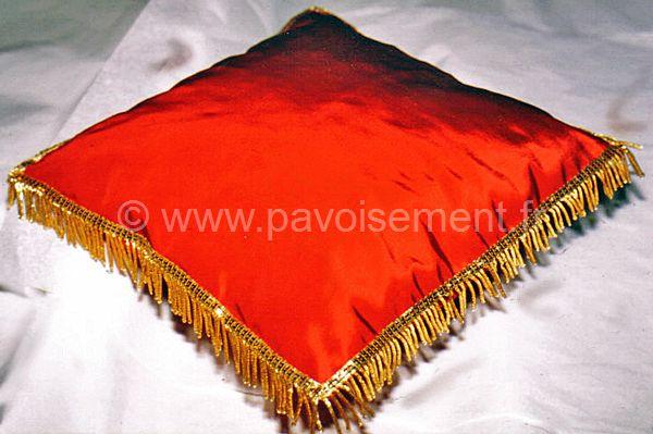 protocole Articles mairies : coussin cérémonie frangé or