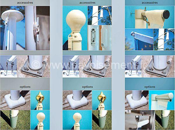 Mât PVC Alizé : accessoires et options