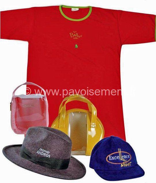 Objet publicité promotion : vêtements, tee-shirt et casquettes