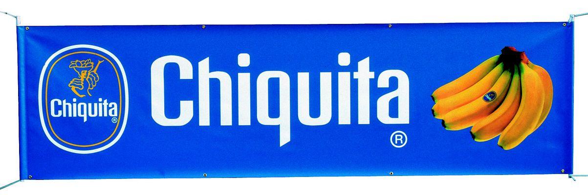 banderole publicitaire avec rubans de fixation