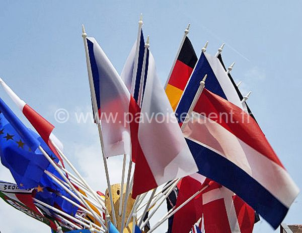 Drapeaux de table : drapeaux du monde