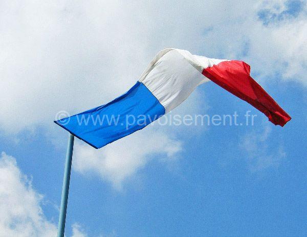 Drapeau - oriflamme aux couleurs de la France