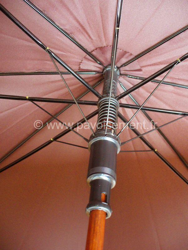 """parapluie personnalisé - parapluie modèle """"Golf"""" vue des armatures (les baleines)"""
