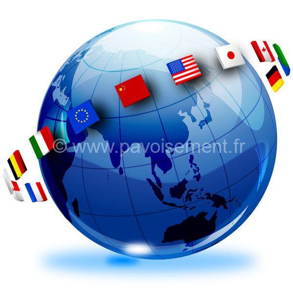 les drapeaux du monde - drapeaux des nations