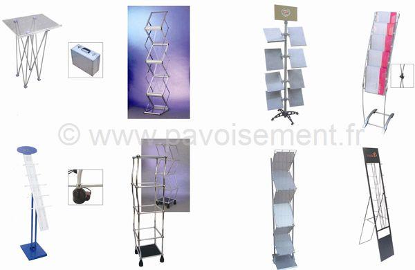 présentoir documents - présentoir à tablette - présentoir pliable - présentoir à compartiments - présentoir à étagères - présentoir à glissière