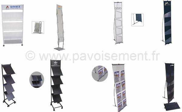 présentoir document - présentoir à pochette en tissu - présentoir à bac à présentoir pliable - présentoir à glissière